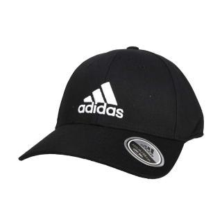 【adidas 愛迪達】運動帽-純棉 遮陽 防曬 鴨舌帽 帽子 愛迪達 基本款 棒球帽 黑白(FK0891)