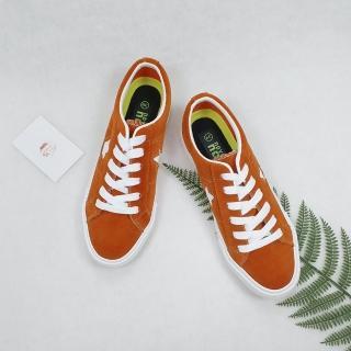 【XINCHI】XINCHI-ONE STAR 桔紅色低筒休閒鞋-NO.X0066