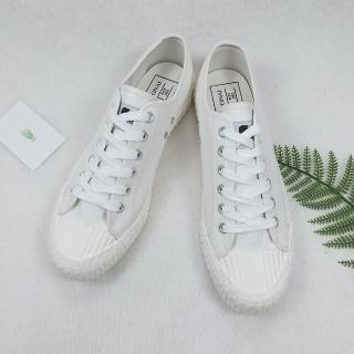 【X-INGCHI 帆布帆】X-INGCHI 男女款復古白色帆布餅乾鞋-NO.X0053