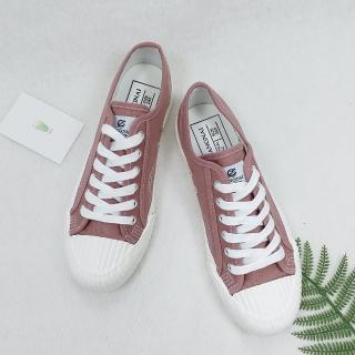 【X-INGCHI 帆布帆】X-INGCHI 女款復古豆沙色帆布餅乾鞋-NO.X0055