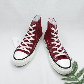 【X-INGCHI 帆布帆】X-INGCHI 男女款基本款酒紅色高筒帆布鞋-NO.X0143