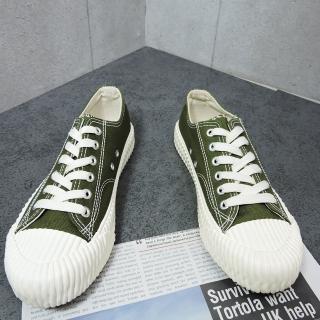 【X-INGCHI 帆布帆】X-INGCHI 女款綠色帆布餅乾鞋-NO.X0020