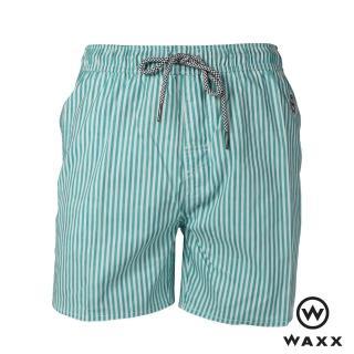【WAXX】冰封俠快乾型男海灘褲-15英吋(藍綠色)