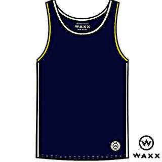 【WAXX】經典系列NAVY素色款限量背心/男上衣(海藍色)