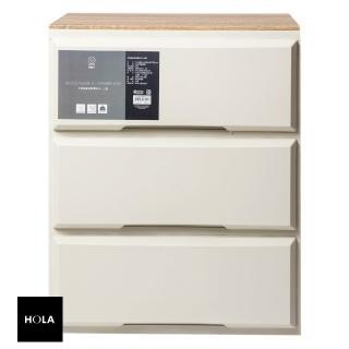 【HOLA】木紋抽屜收納櫃 寬55cm 三層