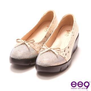【ee9】ee9 MIT經典手工覺鑲嵌水鑽厚底包鞋 米色-2196714 30(厚底包鞋)