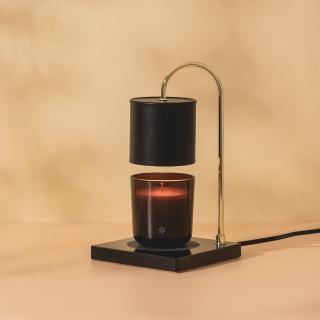 【Vana Candles】香氛蠟燭暖燈 薰香燈 融蠟燈 - 黑大理石檯款(大 可調光)