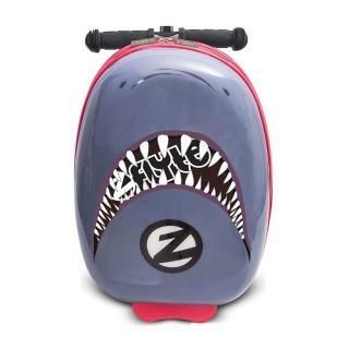 【Zinc Flyte】多功能行李箱滑板車-鯊魚戰士(有贈品)