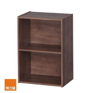 【特力屋】日本IRIS木質二空櫃-深木色