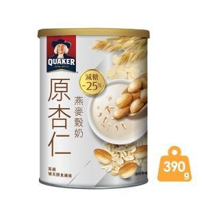 【QUAKER 桂格】桂格原杏仁燕麥穀奶 390g/罐(植物奶 奶素可食)