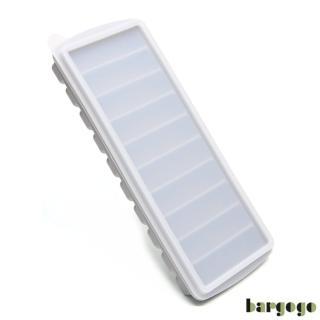 【bargogo】10格長條型矽膠製冰盒-兩入組(可當副食品分裝盒)