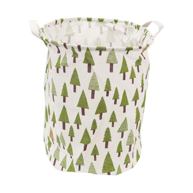 北歐風洗衣籃收納筒-小森林(收納籃