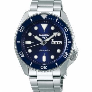 【SEIKO 精工】5 Sports 系列 藍面水鬼鏈帶機械錶x42.5mm(4R36-07G0B -SRPD51K1)