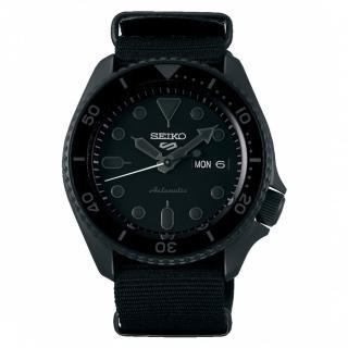 【SEIKO 精工】5 Sports 系列黑面帆布水鬼機械錶x42.5mm(4R36-07G0F /SRPD79K1)