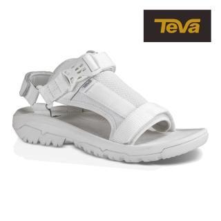【TEVA】原廠貨 女 Hurricane Volt 經典緹花織帶涼鞋/雨鞋/水鞋(白色-TV1015225WHT)