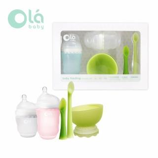 【Olababy】小幼苗新生哺育禮盒五件組(兩色可選)