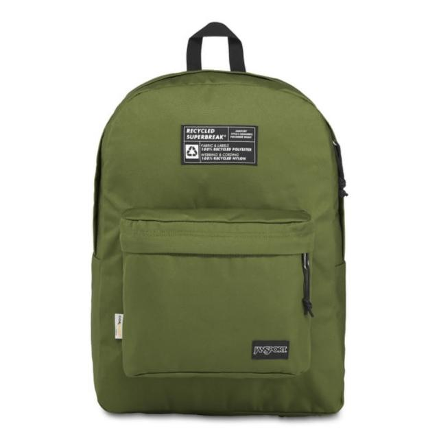 【JANSPORT】環保材質校園背包-RECYCLED SUPERBREAK(橄欖綠)