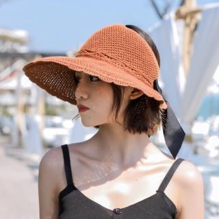 【Acorn 橡果】韓系編織防曬遮陽帽漁夫帽沙灘帽紳士帽1837(焦糖)