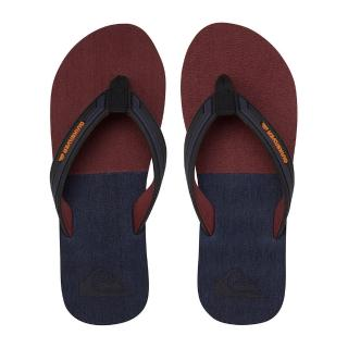 【Quiksilver】男款 男鞋 夾腳拖 拖鞋 人字拖 MOLOKAI ECLIPSED DELUXE(黑紅)