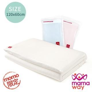 【mamaway 媽媽餵】momo限定 抗敏防蹣 智慧調溫嬰兒床墊套組(120*60cm 床墊+床套)