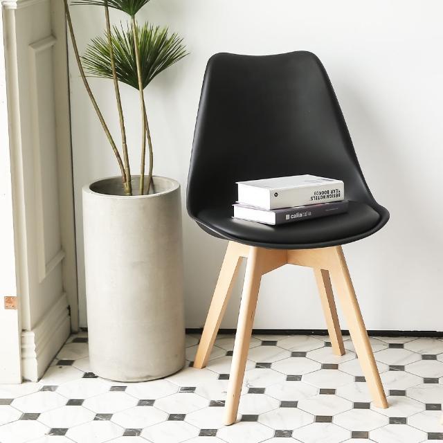 【MAMORU】北歐風鬱金香實木餐椅(化妝椅/休閒椅/網紅椅)