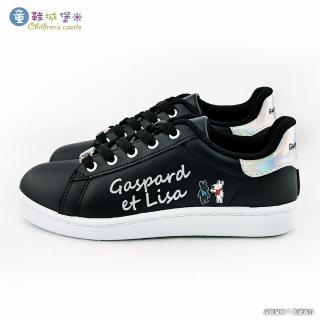 【童鞋城堡】簡約綁帶休閒女鞋 麗莎與卡斯柏(GL7623-黑)