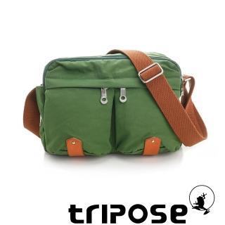 【tripose】MOVE系列多格層機能斜背包(草地綠)