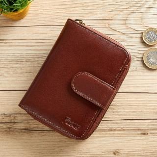 【FOCUS】義大利真皮女中夾拉鍊零錢包(FTC3309)