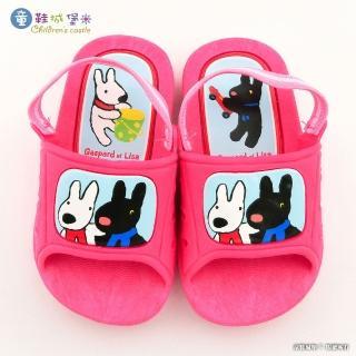 【童鞋城堡】幼童室內外拖鞋 麗莎與卡斯柏(GL2823-粉)