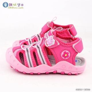 【童鞋城堡】佩佩豬 護趾透氣運動涼鞋 粉紅豬小妹(PG4532-桃)