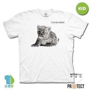 【摩達客】美國The Mountain保育系列小花豹 兒童幼兒 白色純棉短袖T恤(現貨)