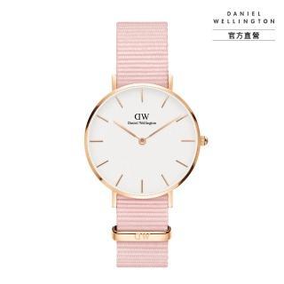 【Daniel Wellington】官方直營 Petite Rosewater 32mm櫻花粉織紋錶(DW手錶DW00100317)