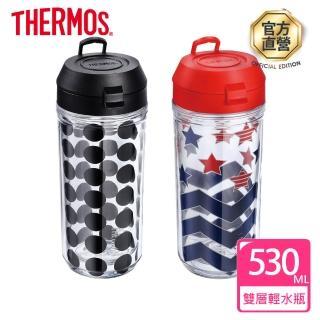 【THERMOS膳魔師】雙層輕水瓶530ml(TP410)