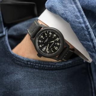 【HAMILTON 漢米爾頓】卡其野戰 鈦金屬機械錶-42mm(H70575733)