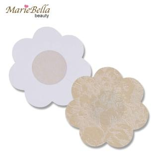 【MarieBella】隱形花紋布面胸貼 嬌點貼 花瓣型(拋棄式 10片/入)