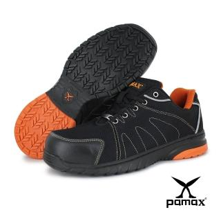 【PAMAX 帕瑪斯】運動風、超透氣高抓地力止滑安全鞋(PS66625FEH 黑橘 / 男生尺寸)