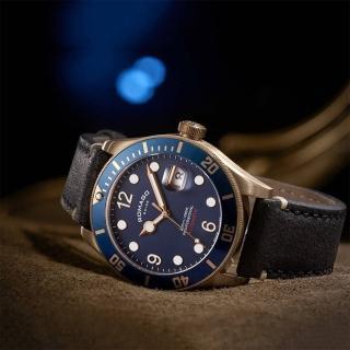 【ROMAGO】限量青銅錶 潛水機械錶-藍/42.5mm(RM106-BU)