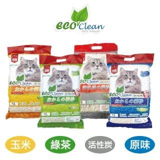 週期購【ECO艾可】豆腐貓砂7L-6入 原味/綠茶/玉米/活性炭