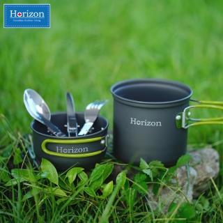 【Horizon 天際線】輕量化野營鍋餐具五件組