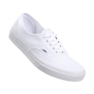 【VANS】AUTHENTIC 全白 經典款 低筒 滑板鞋 帆布鞋 女鞋(VN000EE3W00)