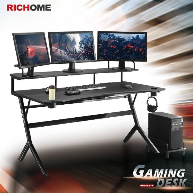 【RICHOME】WARRIOR旗艦款150CM電競桌/電腦桌/書桌/工作桌(2色)/