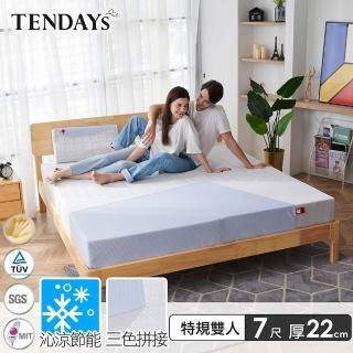 【TENDAYS】包浩斯紓壓床墊7尺特規雙人(22cm厚 可兩面睡 記憶床)