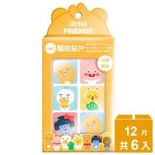 【Kakao Friends】植萃精油驅蚊貼片12片x6入(集合款/角色款)
