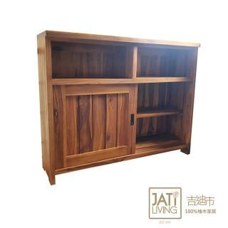 【吉迪市柚木家具】柚木復古餐櫃(廚房收納架 置物櫃 收納櫃 鄉村 KLF-06)