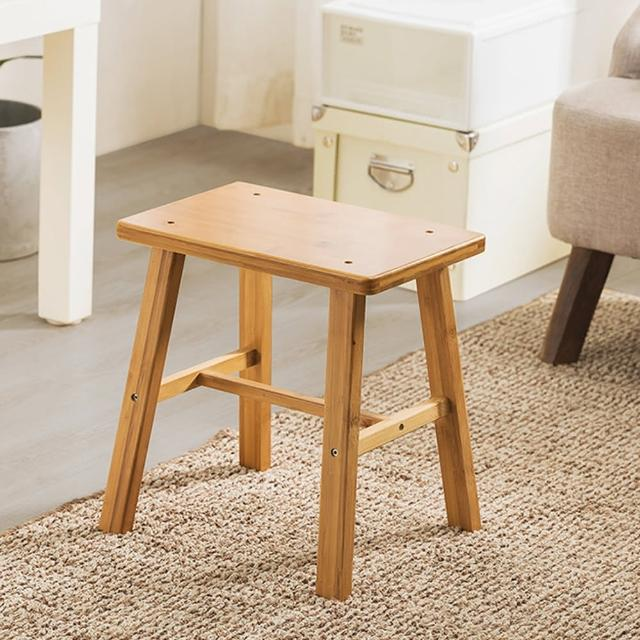 【HappyLife】楠竹方形椅凳