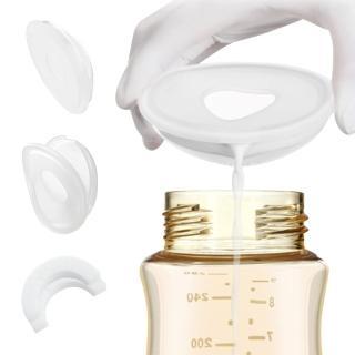 【JoyNa】檢驗合格手動母乳矽膠集乳器+防溢乳墊 吸奶器溢漏奶接奶器2入盒裝(2盒入)