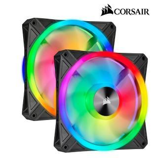 【CORSAIR 海盜船】iCUE QL140 RGB 風扇 x2+控制器