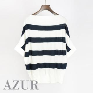 【AZUR】經典寬條紋條紋針織上衣