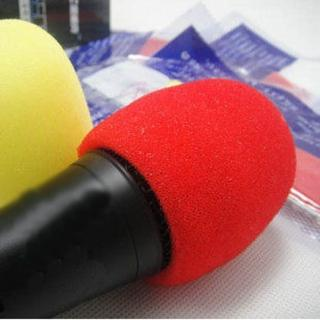 【PS Mall】海綿罩 KTV麥克風套 話筒套 海綿套 防風罩 一對 15對(J230)