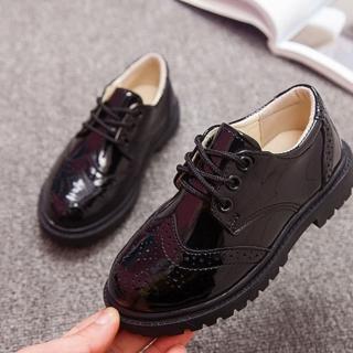 【橘魔法】英倫風男童黑色皮鞋(搭配西裝 花童  表演 鋼琴演出 畢業典禮)